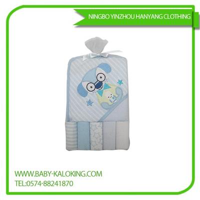 5 Piece Of Cotton Polyester Baby Saliva Towel