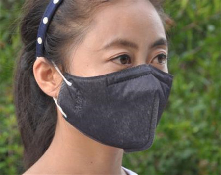 with respiratory anti fog disposable non-woven mask/3D folding black breathable mask