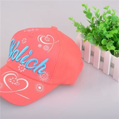 Little Girl's New Style Fashionable Pink Baseball Cap