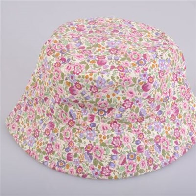 Fashionable Customized Floral Bucket/cotton Floral Lady's Sunshade Bucket