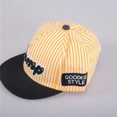 Comfortable And Fashionable Kid's Duckbill Cap With Applique