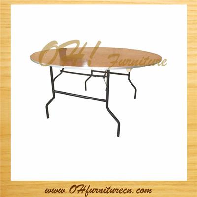 6ft Round Wooden Folding Tables Wholesale For Banquet Party Event