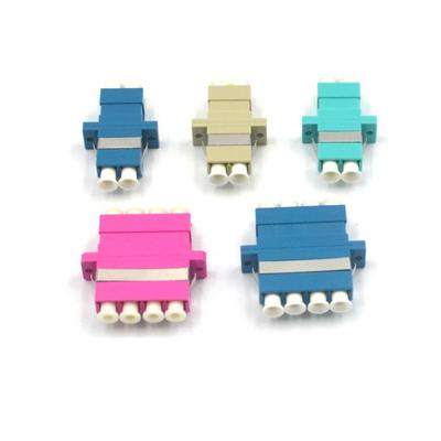 LC/UPC OM4 Pink Quad Fiber Optical Adapter