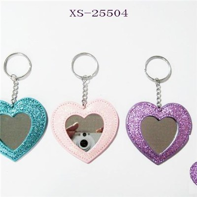 PVC keychain, various colors With mirror