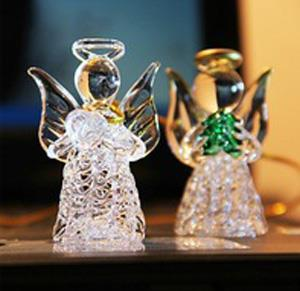 Promotional Glass Praying Angels