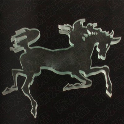 Lifelike Crystal Horse Figurines