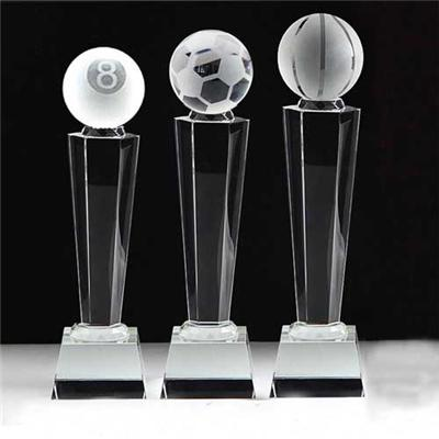 Personalized MVP Crystal Football Award
