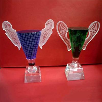 Custom Design Colored Crystal Cup Award