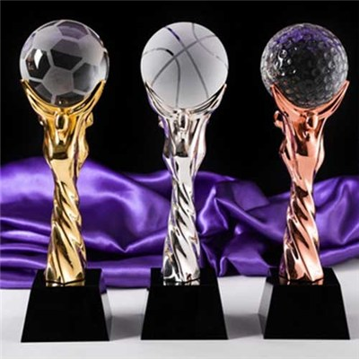 Souvenirs Gifts Metal Crystal Basketball Medal