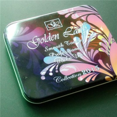 Custom Rectangle Cookie Tin Box With Logo Lids