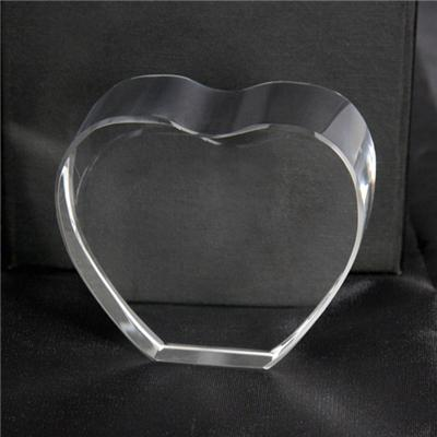 Heart Shape Blank Crystal