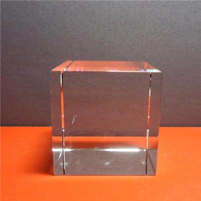 Blank Glass Cube