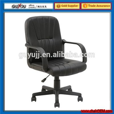 Y-1854 Best Selling Soft Black Leather Office Chair