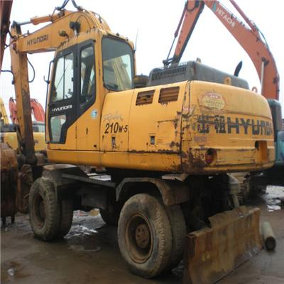 Used Hyraulic Wheel Rubber Excavator R210W-5 For Sale