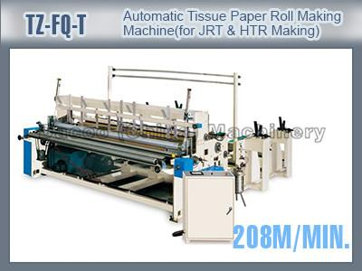TZ-FQ-T Automatic Toilet Tissue Paper Roll Making Machines For Jumbo Toilet Tissue Paper Roll Hand Towel Rolls & Industrial Roll Making