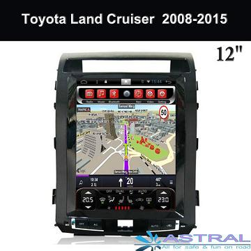 China Suppliers Car GPS Navigation 12 Inch Toyota Land Cruiser 2008-2015