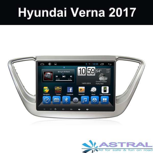 China Suppliers Touch Screen Radio System Hyundai Verna 2017