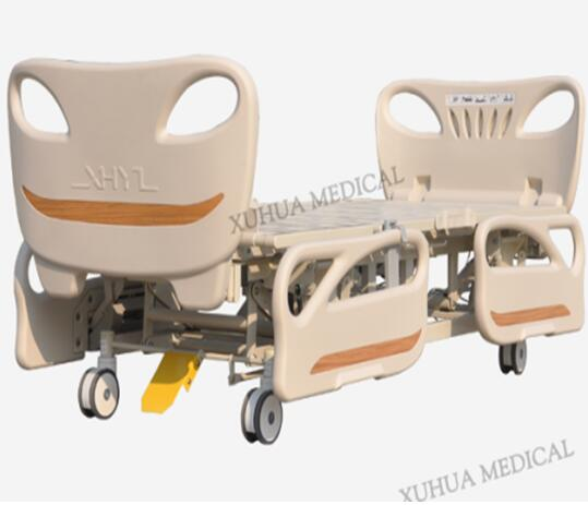 CE ISO Hospital Furniture, Five Functions Electric Hospital Medical Bed with Central Braking Casters Model: XHD-2B