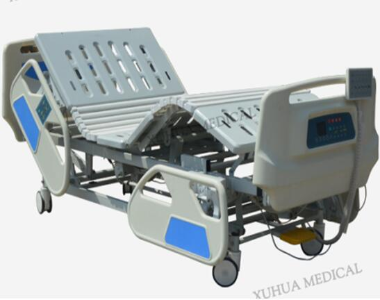 Five Functions Electric Hospital Medical Bed with Scale  with Central Braking Casters Model: XHD-2C