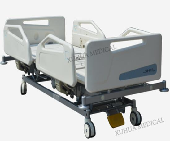 CE standard Five Functions Electric ICU Hospital Nursing Bed with ABS Mattress Platform Model: XHD-2D