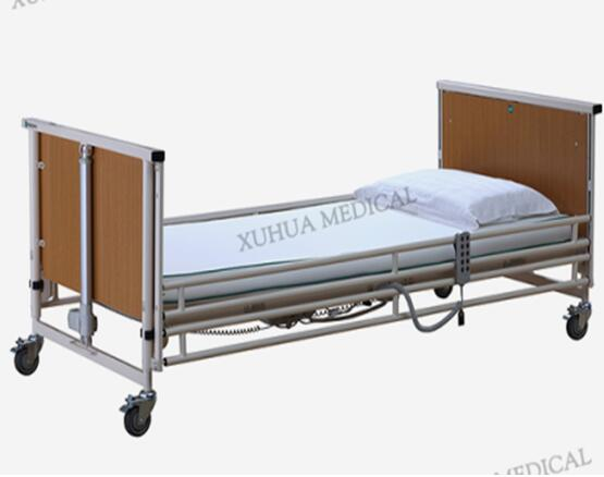 Five Functions Wooden Electric Super low Bed for Homecare Model: XH-JJ-A