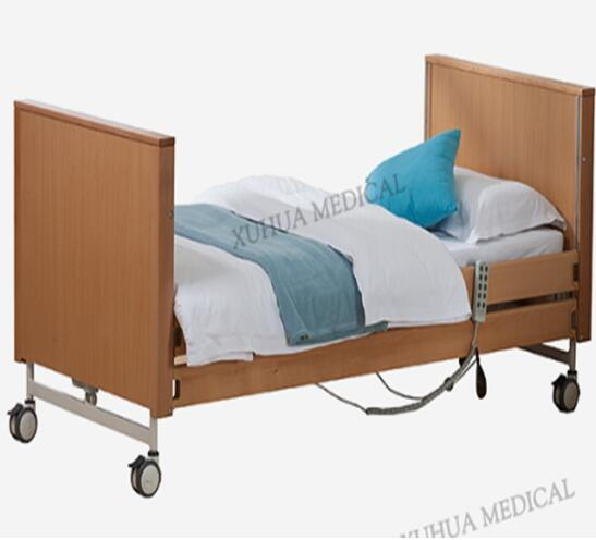 Hospital Furniture Five Functions Wooden Electric Homecare Bed, Foldable type Model: XH-JJ-B