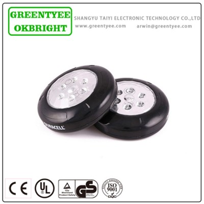 Hot Selling Top Quality Promotional Stick Round Mini LED Push Button Halogen Stick Work Light