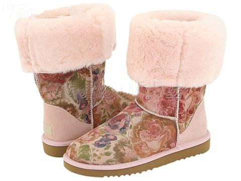 UGG 5802 Brown Flower pattern
