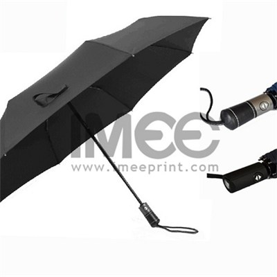 Promotional 3 Folding/Straight Golf Auto Open Close Sun/Rain Umbrella