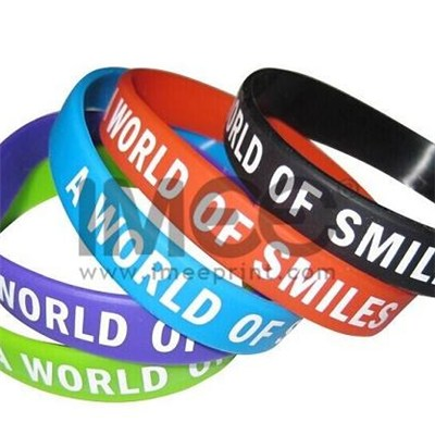 Personalized Custom Printed Silicone Band/Ring, Rubber Bracelets/Wristband