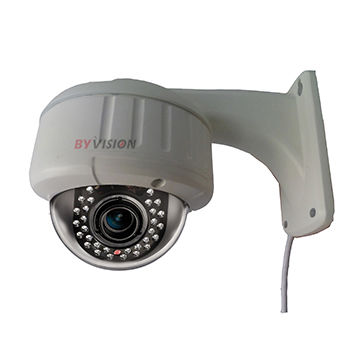 Outdoor Vandal-proof IP Dome Cameras With VF Zoom Lens 720P/960P/1080P