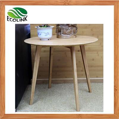 Decorator Modern Simple Bamboo Wood Round Side End Sofa Occassional Table In Natural Color