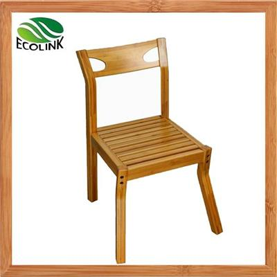 Natural Simple Solid Bamboo Side Arm Restaurant Chair For Dining And Kitchen