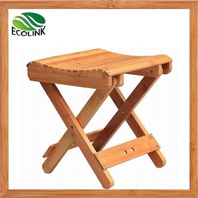 Multifunctional Foldable Natural Bamboo Step Stool For Toddlers Fishing Garden Shower
