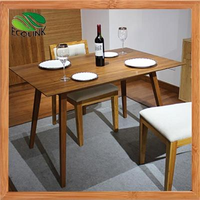 Solid Bamboo Wood Dining Room Furniture Dining Table Chair Set