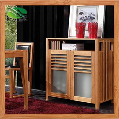 Solid Bamboo Wood Kitchn Storage Cupboard Buffet Organizer Cabinet