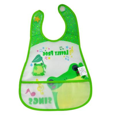 Cute PEVA Waterproof Baby Bibs Wholesale With Logo Printing