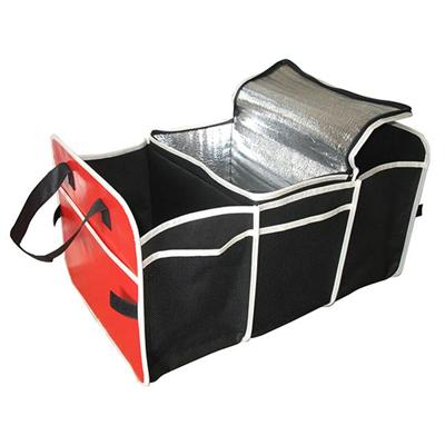 Hot Sale Folding Black Car Trunk Organizer With 3 Compartments