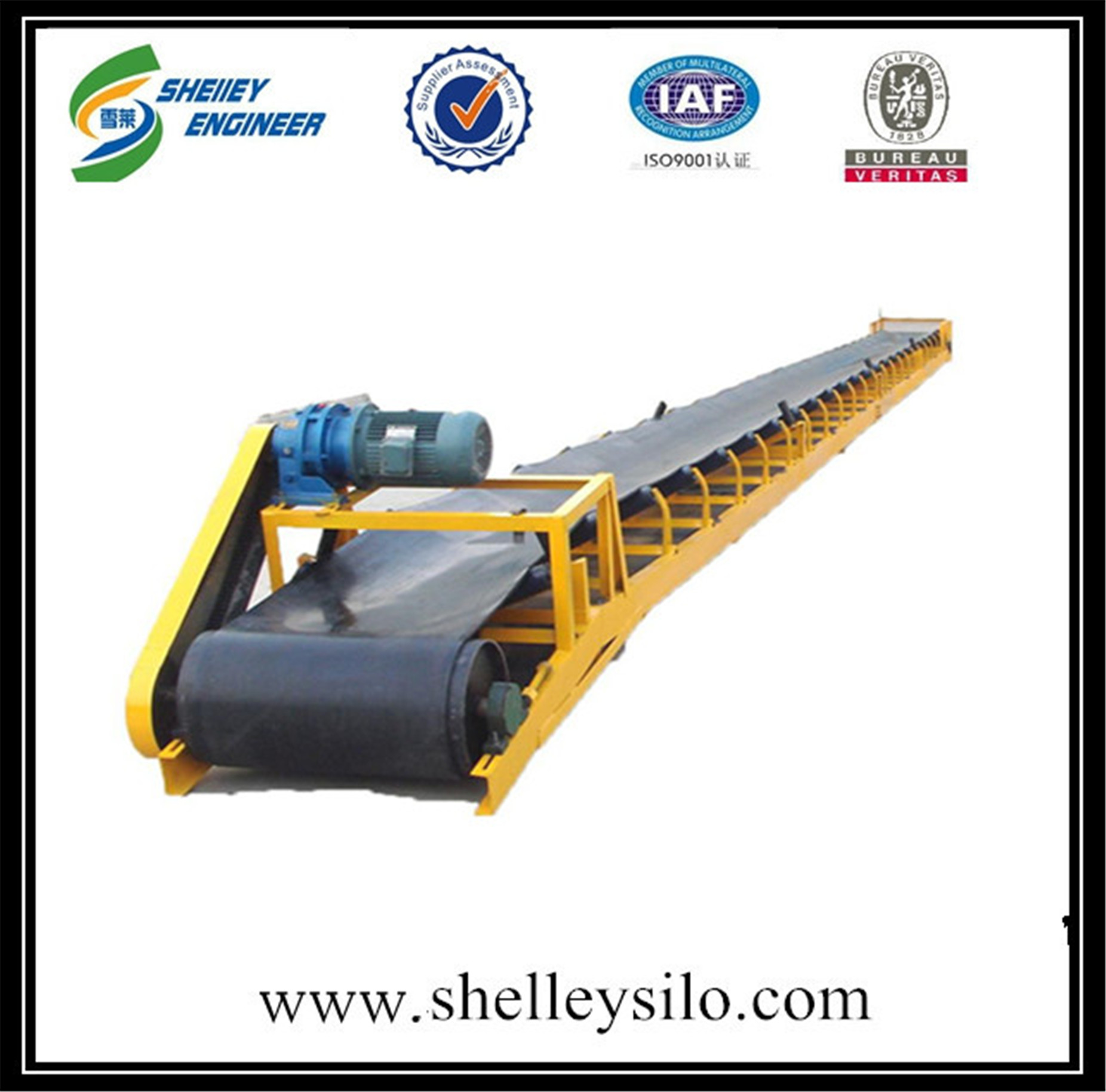 Rubber belt conveyor system for sale