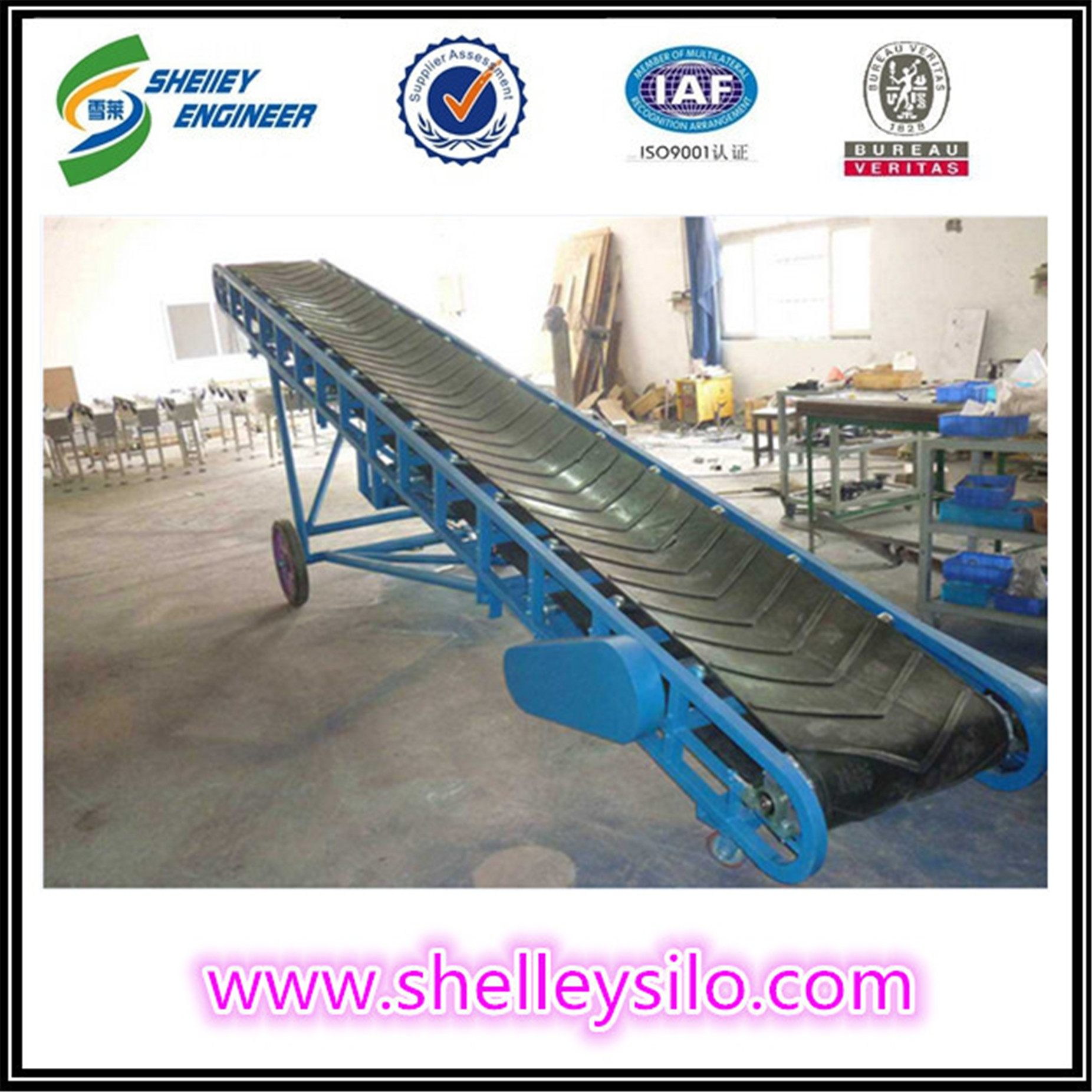 Used rubber grain belt conveyor system