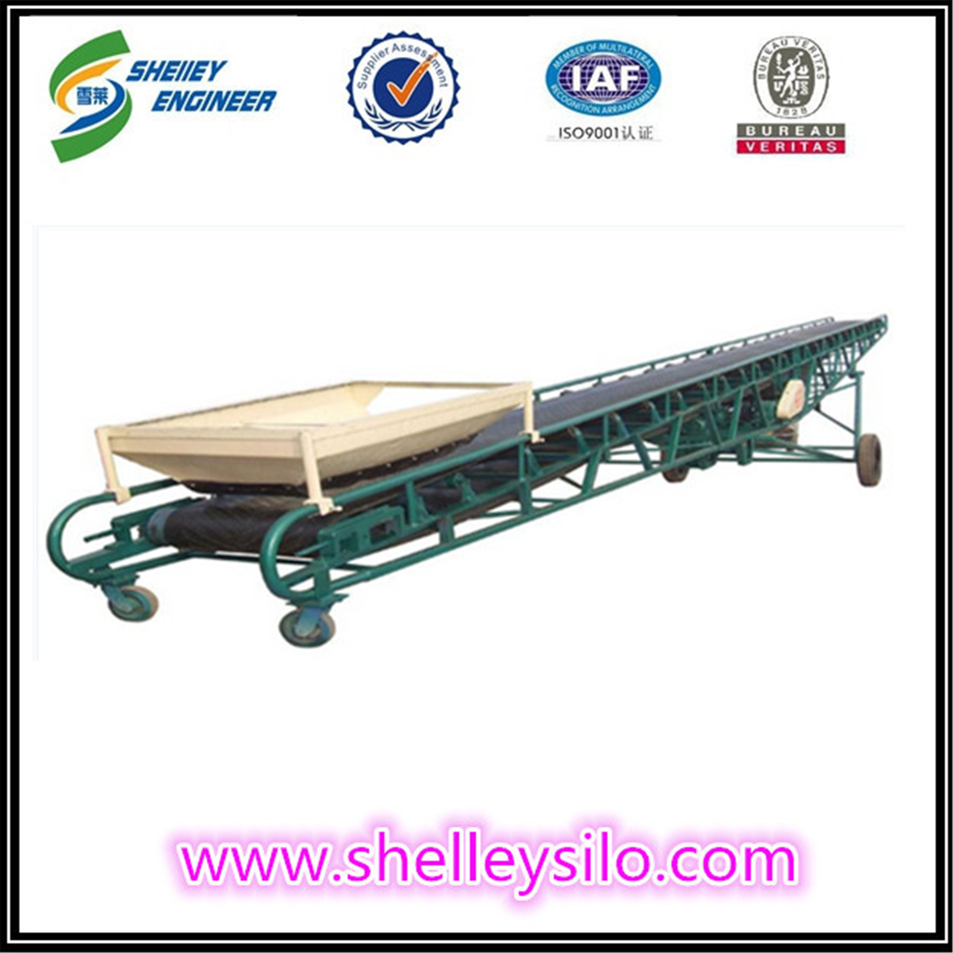 rubber used grain belt conveyor system cost