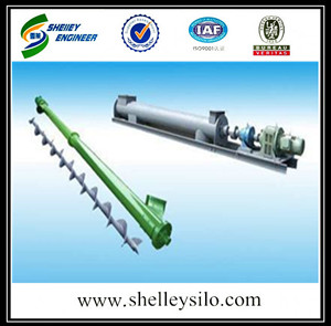 Pellet screw conveyor for grain silo