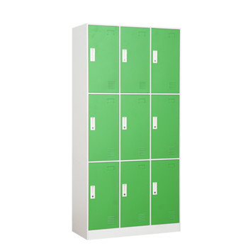 Factory High Quality changing room 9 Doors Steel Storage Lockers With Cheap Price