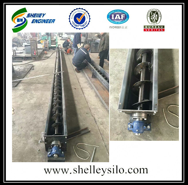 spiral auger screw conveyor for grain silo