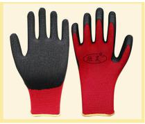 13gauge polyester latex palm coated safety working glove