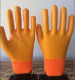 acrylic terry loops nitrile full coating winter glove