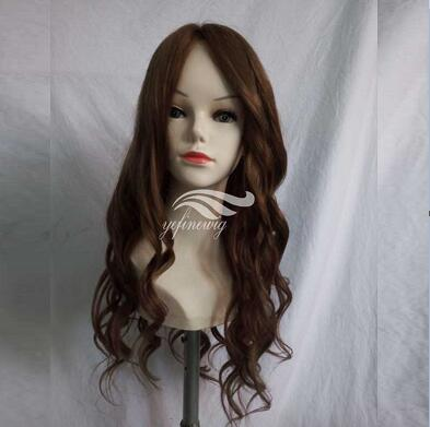 Wavy Custom Glueless Remy Human Hair Full Lace Wig Companies