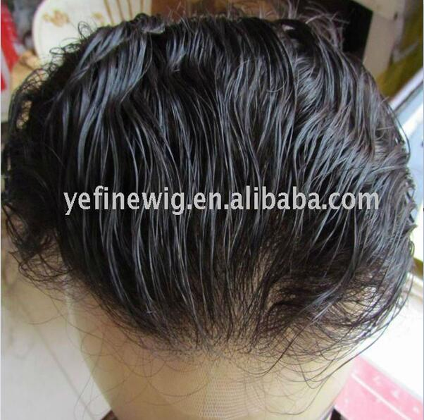 Human Hair Natural Looking Mens Hair Pieces Toupee/Wig/ Replacement systems