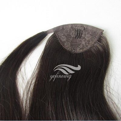 Human hair Ponytail hair extensions