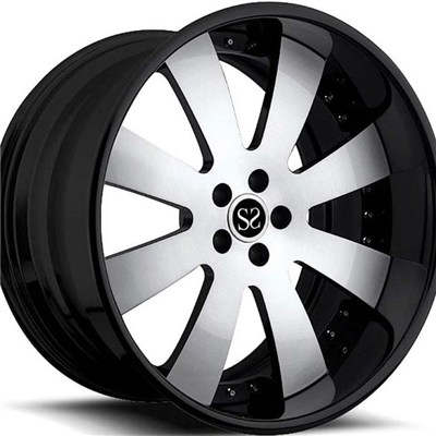 Gloss Black Machine Face 2 PC Forged Wheels
